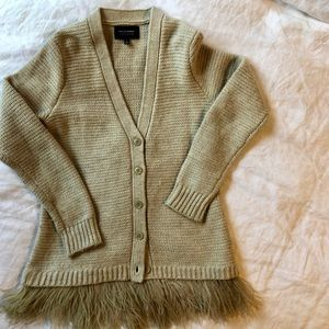 LTD edition Banana Republic sweater w/ feathers S
